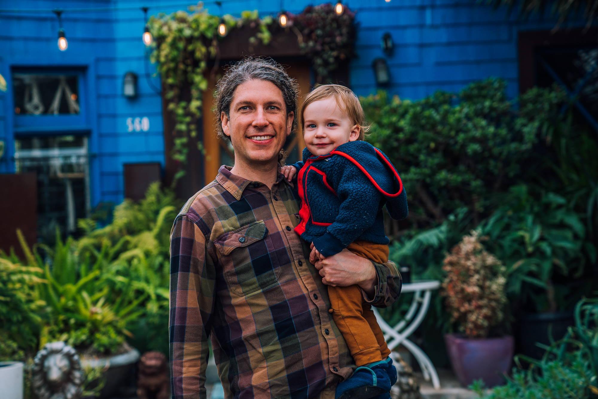 Father son backyard John Suhar