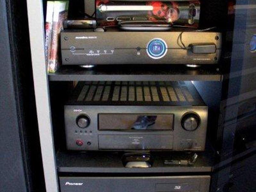 Denon AVR-4310CI, Emotiva XPA-3, Polk RTia9, RTIa7, CSIa6  Audio Quest cables, Panamax, Sanus, Tech-Craft complete home theater set-up