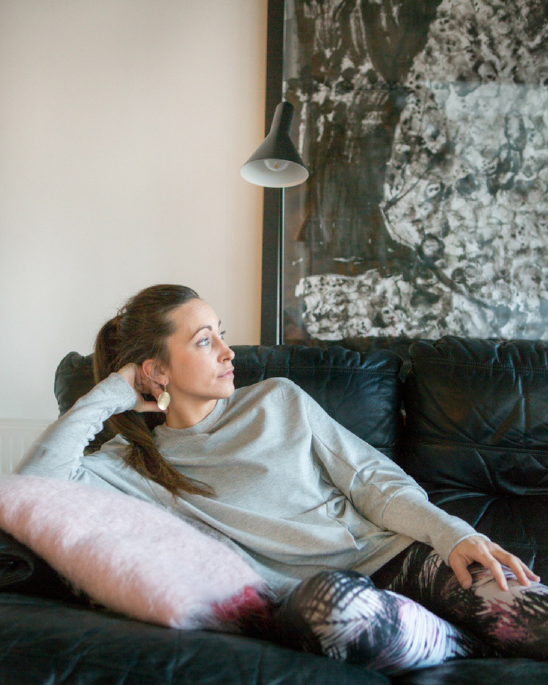 Comfy, oversized grijze sweater Jane