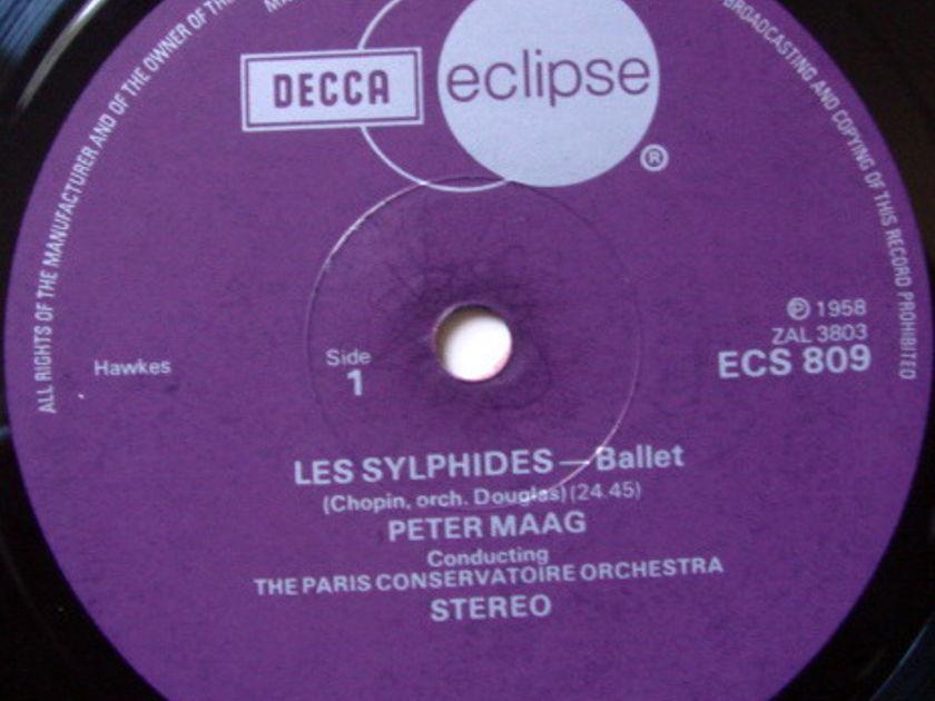 DECCA ECLIPSE / PETER MAAG, - Chopin Les Sylphides, Delibes La Source, MINT!