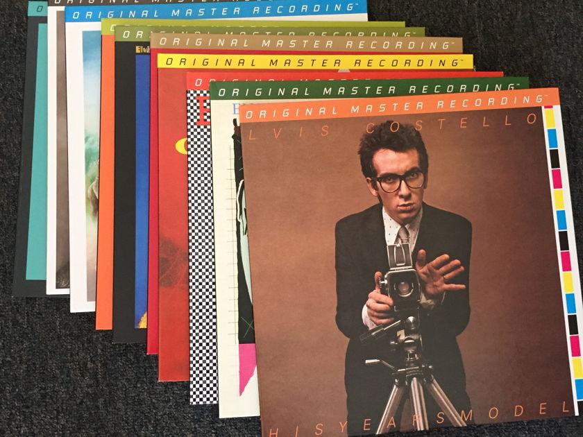 Elvis Costello  - Mobile Fidelity Mofi Lot of 10 mint albums