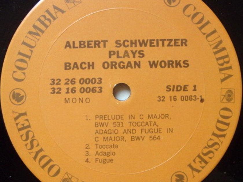 Columbia Odyssey / ALBERT SCHWEITZER - plays Bach Organ Works, EX, 2LP Box Set!