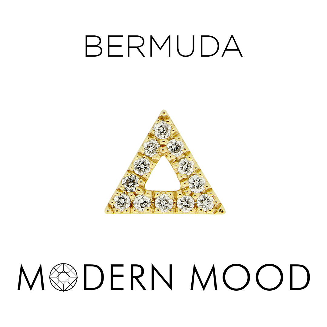 diamond triangle bermuda piercing jewelry