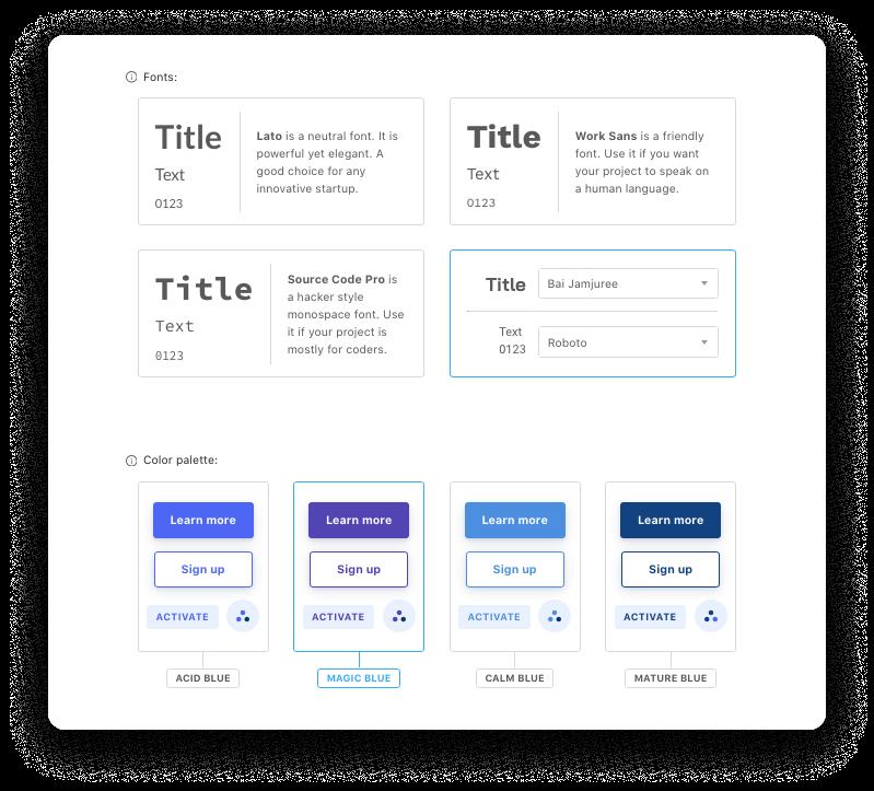 Unicorn Platform editor