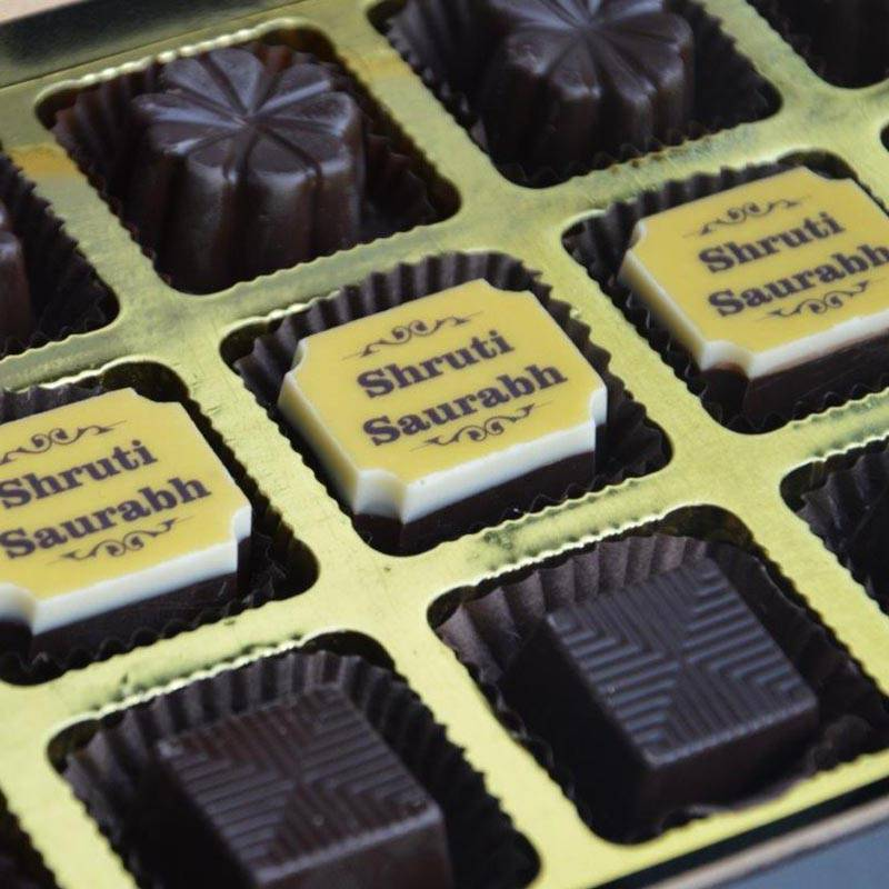 Custom printed chocolates