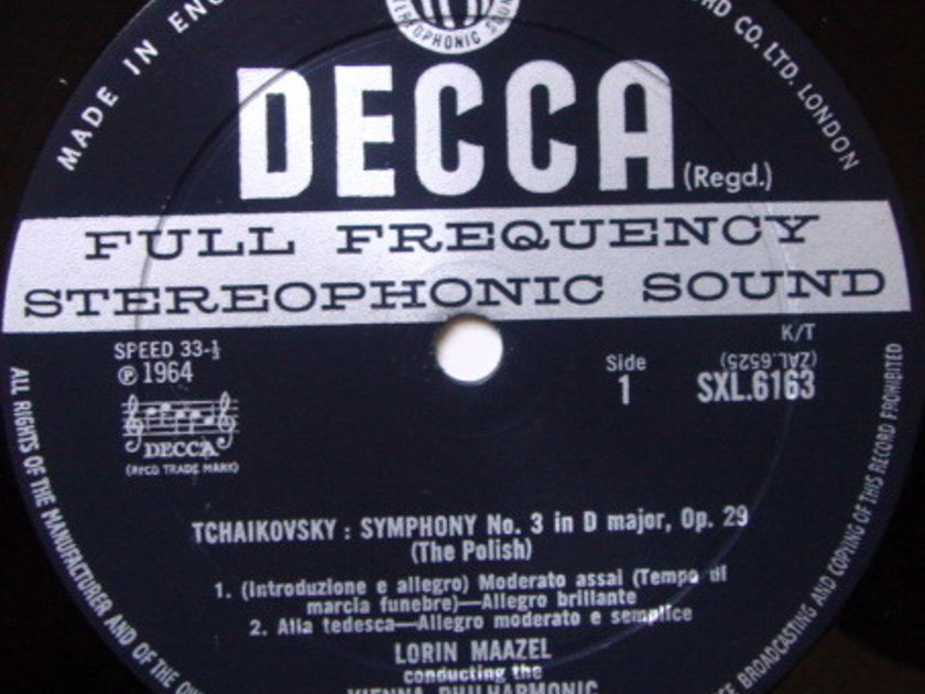 DECCA SXL-WB-ED2 / MAAZEL, - Tchaikovsky Symphony No.3 The Polish, NM!