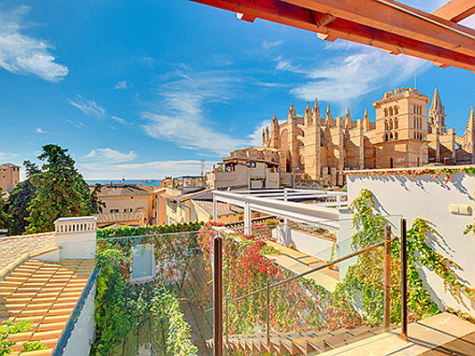 Hondarribia, Spain - This luxury residence in the heart of Palma boasts views of the Old Town, as well as a home spa with an indoor pool and fitness room. The asking price is 13.5 million euros. (Image source: Engel & Völkers Mallorca)