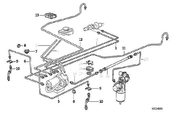 E36 Front Brake Lines 34321159717