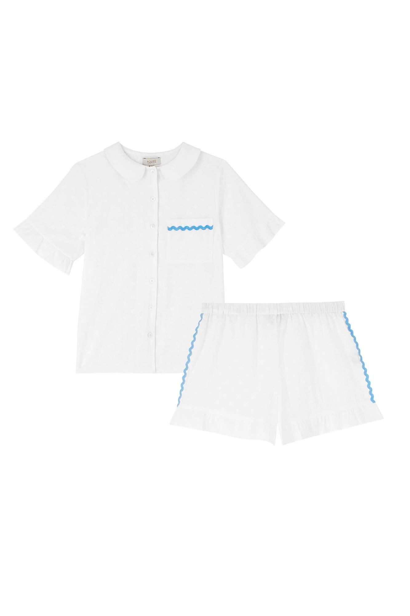 YOLKE Silk Pyjama Sets | Leopard Print Classic Silk Pyjama Set