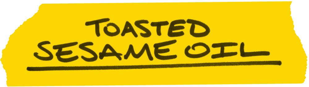 toastes sesame oil text