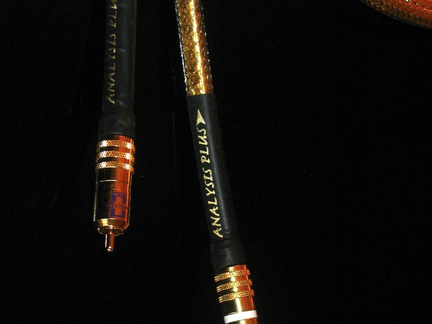 ANALYSIS PLUS- GOLDEN OVAL 0.5m/Heirloom quality cable noise floor so low goose bumps & tears