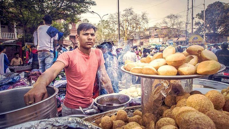Street food seller, India