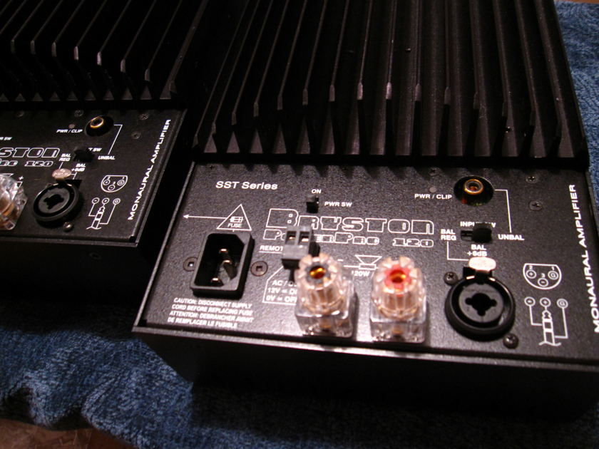Bryston PowerPac 120SST monos, each amp is a half of 3B sst