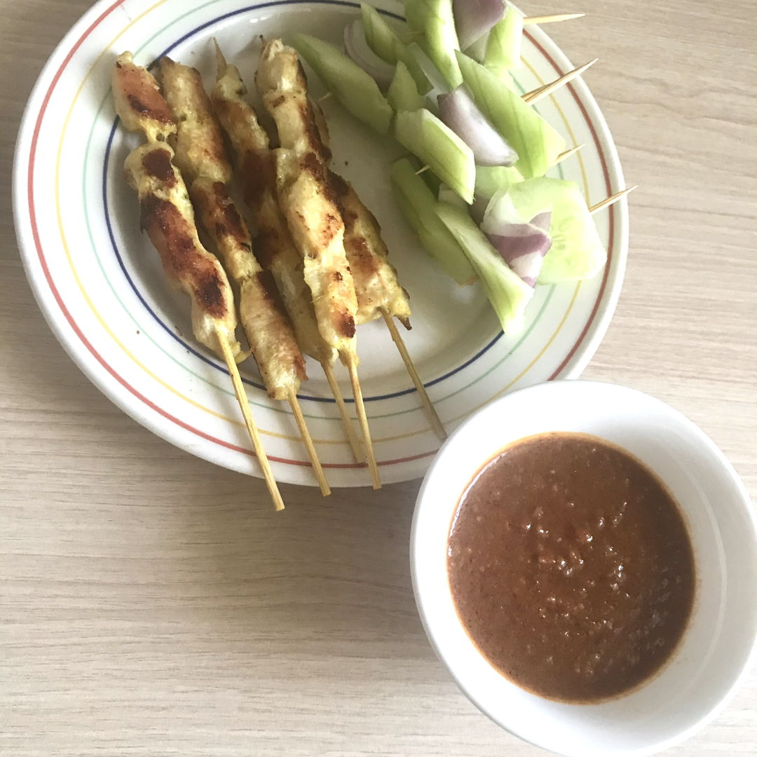 Chicken satay for lunch 😁👍🏻