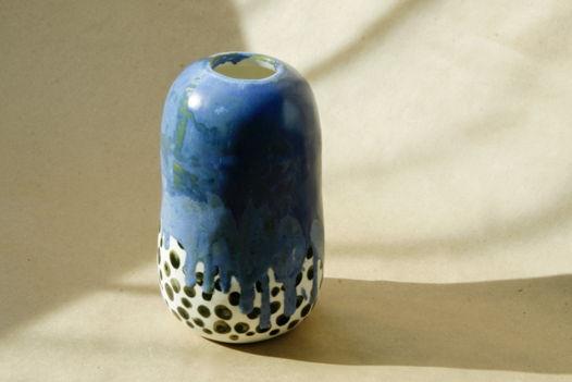 Высокая ваза Blue/Dot