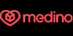 Medino online pharmacy logo red on white