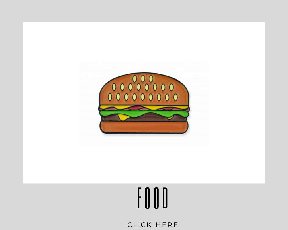 custom corporate food lapel pins