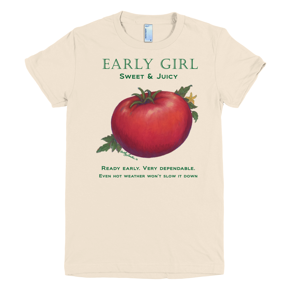 Early Girl tomato t shirt by liz lauter