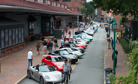 Porsche Concours and Car Show at Station Square