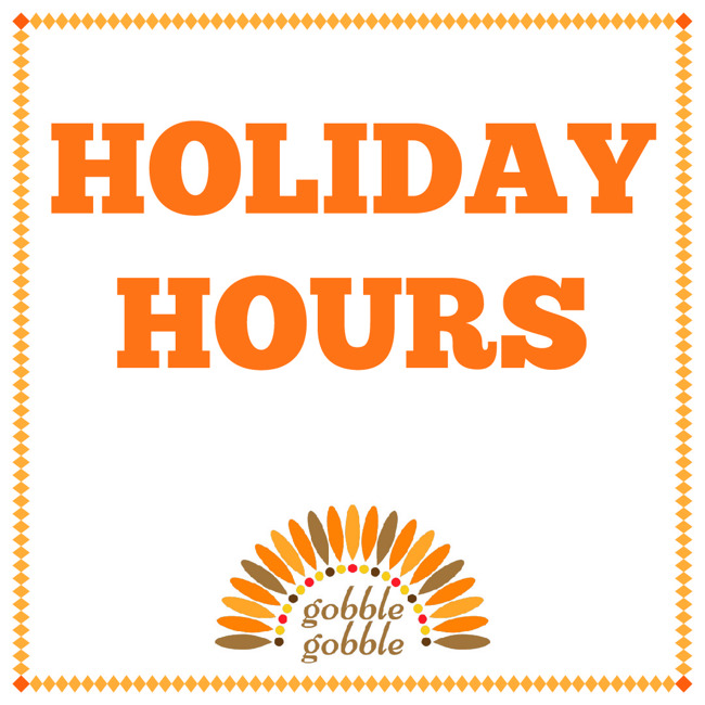 primrose west pearland; holiday hours; thanksgiving