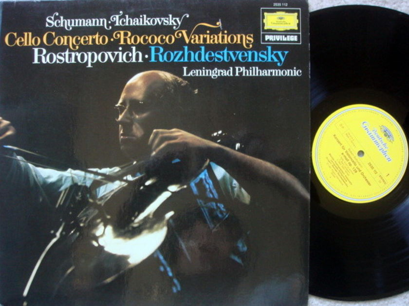 DG / ROSTROPOVICH/ROZHDESTVENSKY, - Schumann Cello Concerto, MINT!