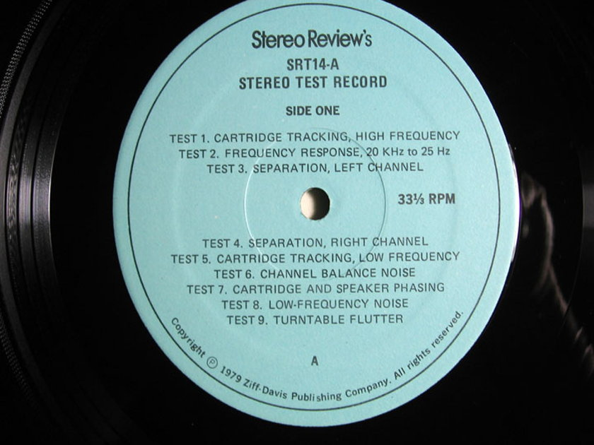 Stereo Review - Stereo Test Record - (For Home And Laboratory Use) - 1978 Stereo Review SRT-14A