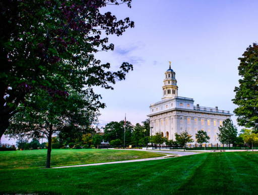 Nauvoo Temple and and grounds. Trees are beginning to learn yellow.