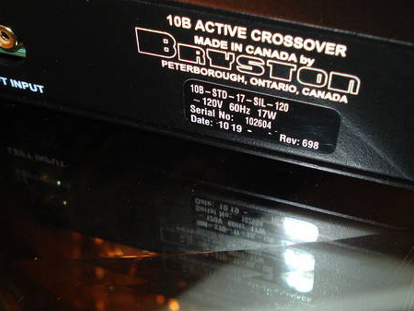 Bryston 10b Active Crossover 10/19 production code. Reduced!