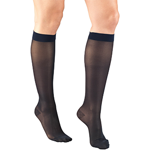Ladies' Knee High Closed Toe Sheer Stocking in Taupe