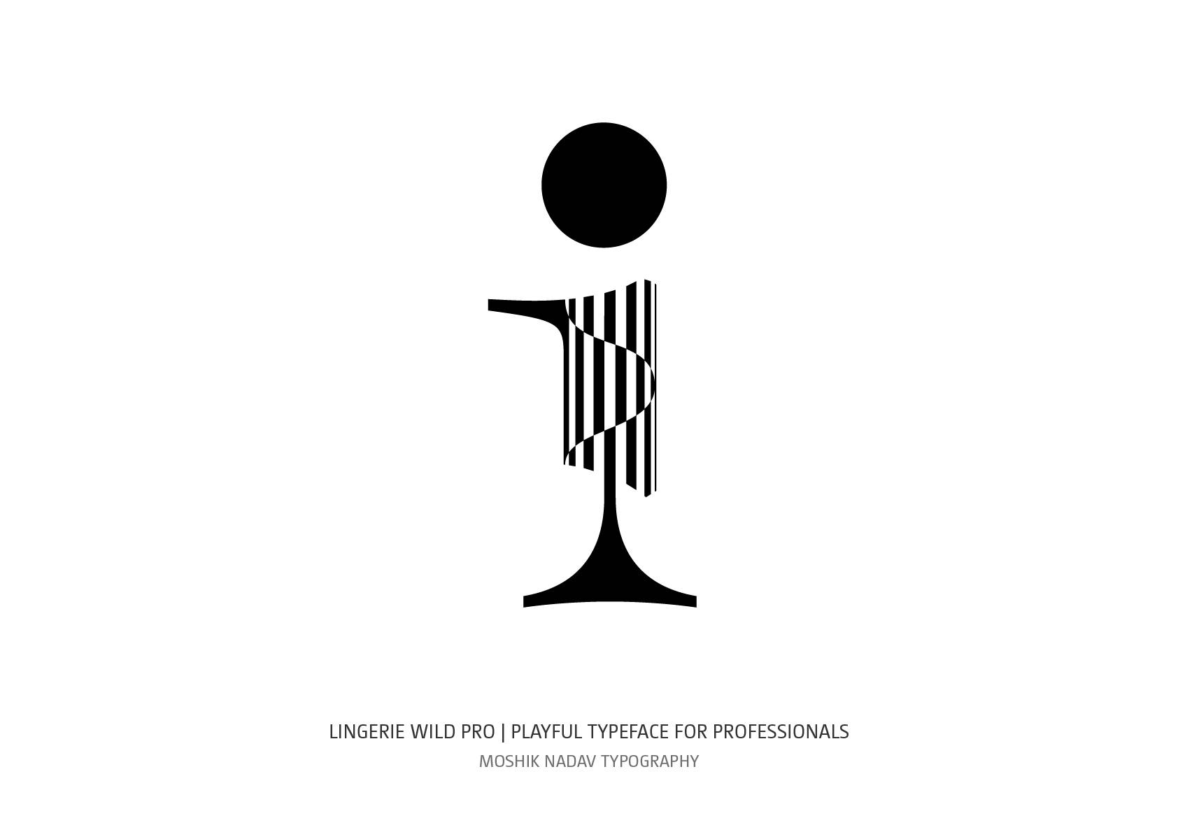 Beautiful lowercase i by Moshik Nadav Fashion Typography NYC design studio