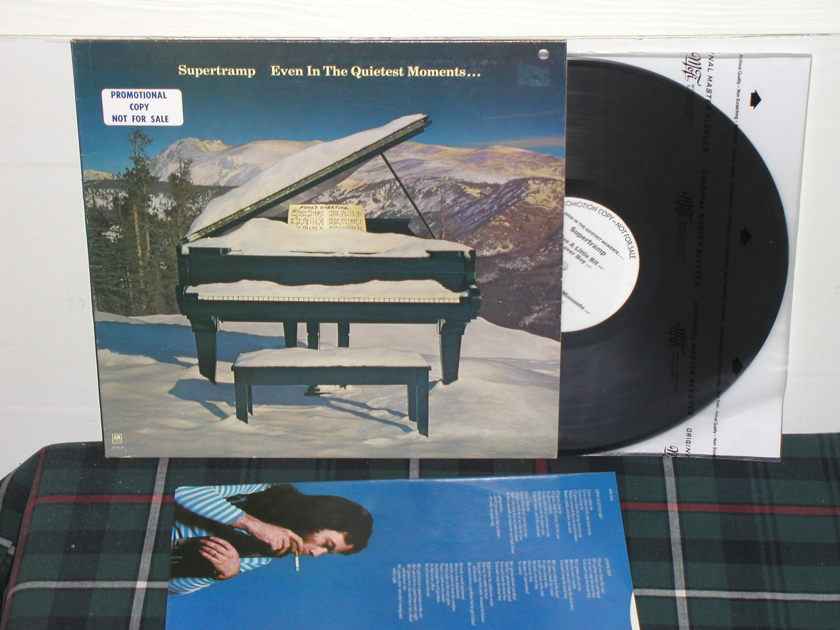 Supertramp - Even in the Quietest Moments (pics) A&M WL Promo