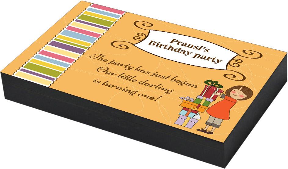 Lovely invitation for Girl Birthday