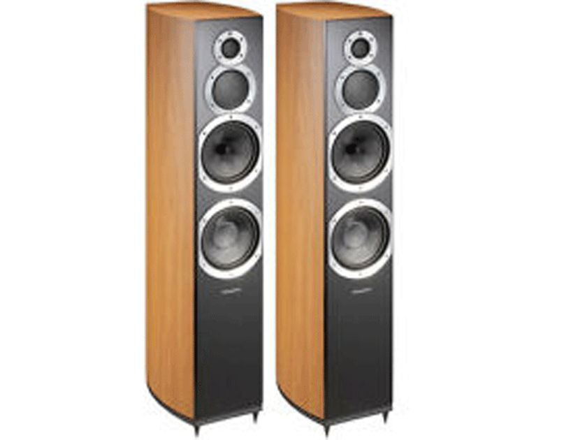 WHARFEDALE Diamond 10.5 Floorstanding Loudspeakers: Mint Condition Demo Unit;  Full Manufacturer's Warranty; Cinnamon Cherry; 40% Off