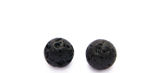 Серьги - гвоздики (пусеты) с вулканической лавой