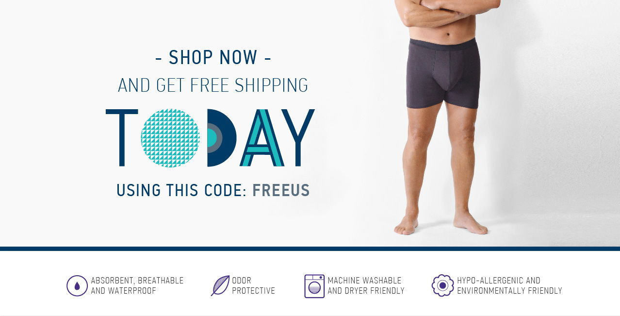 Shop now Confitex men's incontinence underwear and get free shipping