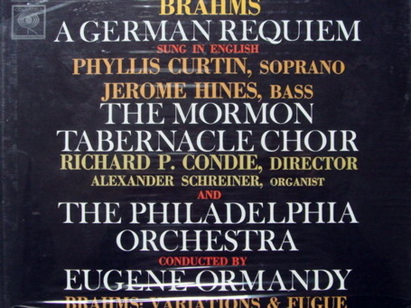 ★Sealed★ Columbia / ORMANDY, - Brahms A German Requiem,  2LP Box Set!