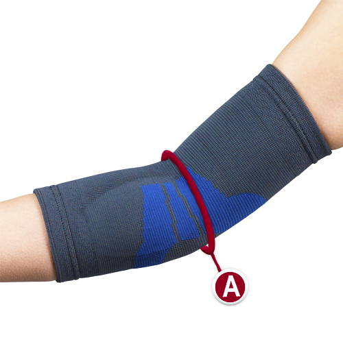 ELBOW SUPPORT MEASUREMENT LOCATION