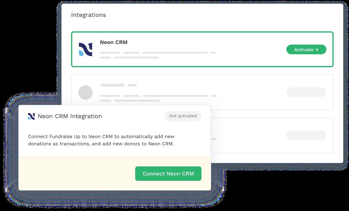 NeonCRM Integration
