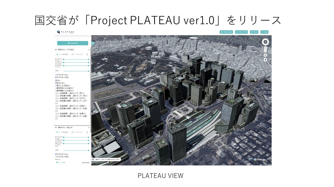 第1位:国交省が「Project PLATEAU ver1.0」をリリース