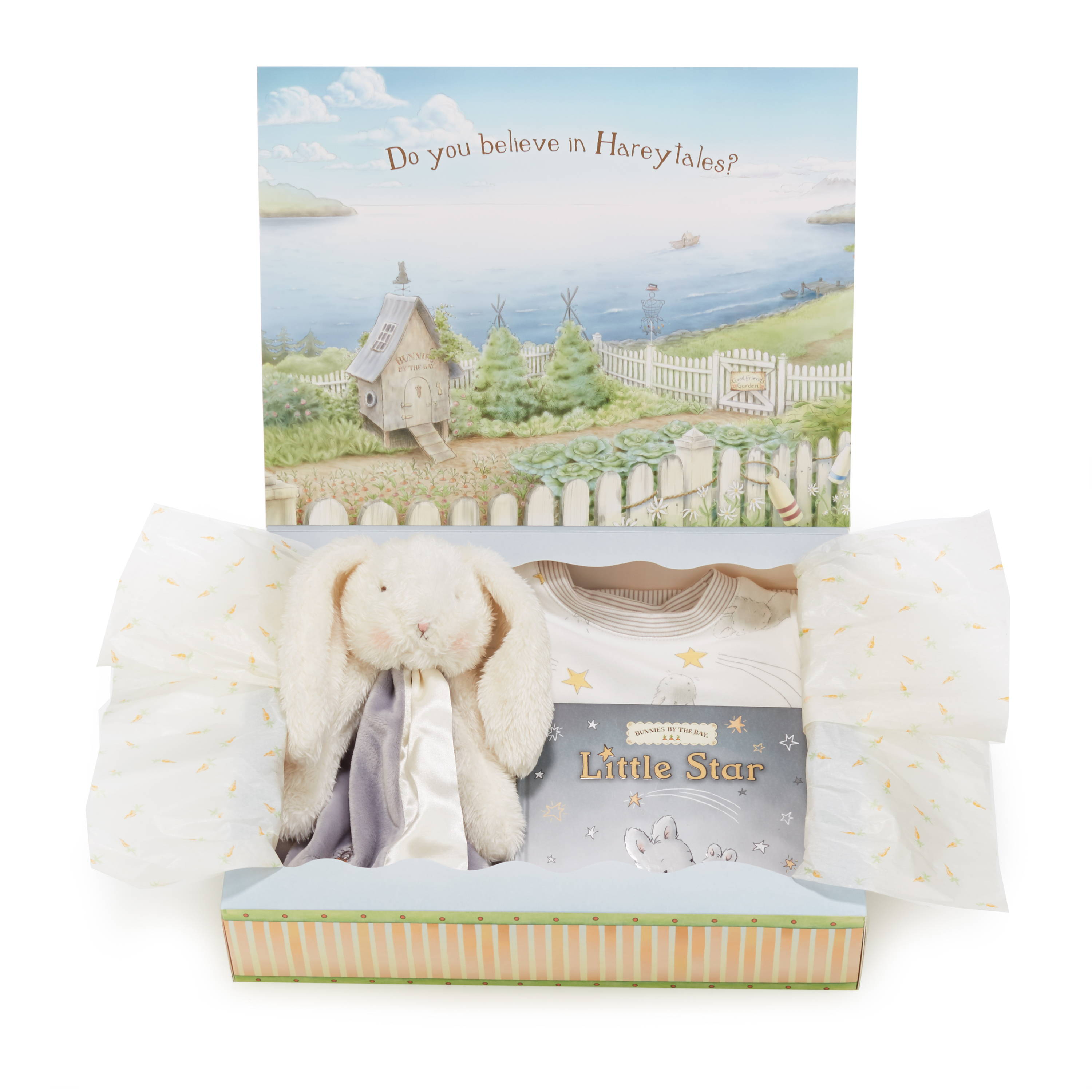 A cute grey bunny - perfect as a baby shower gift!