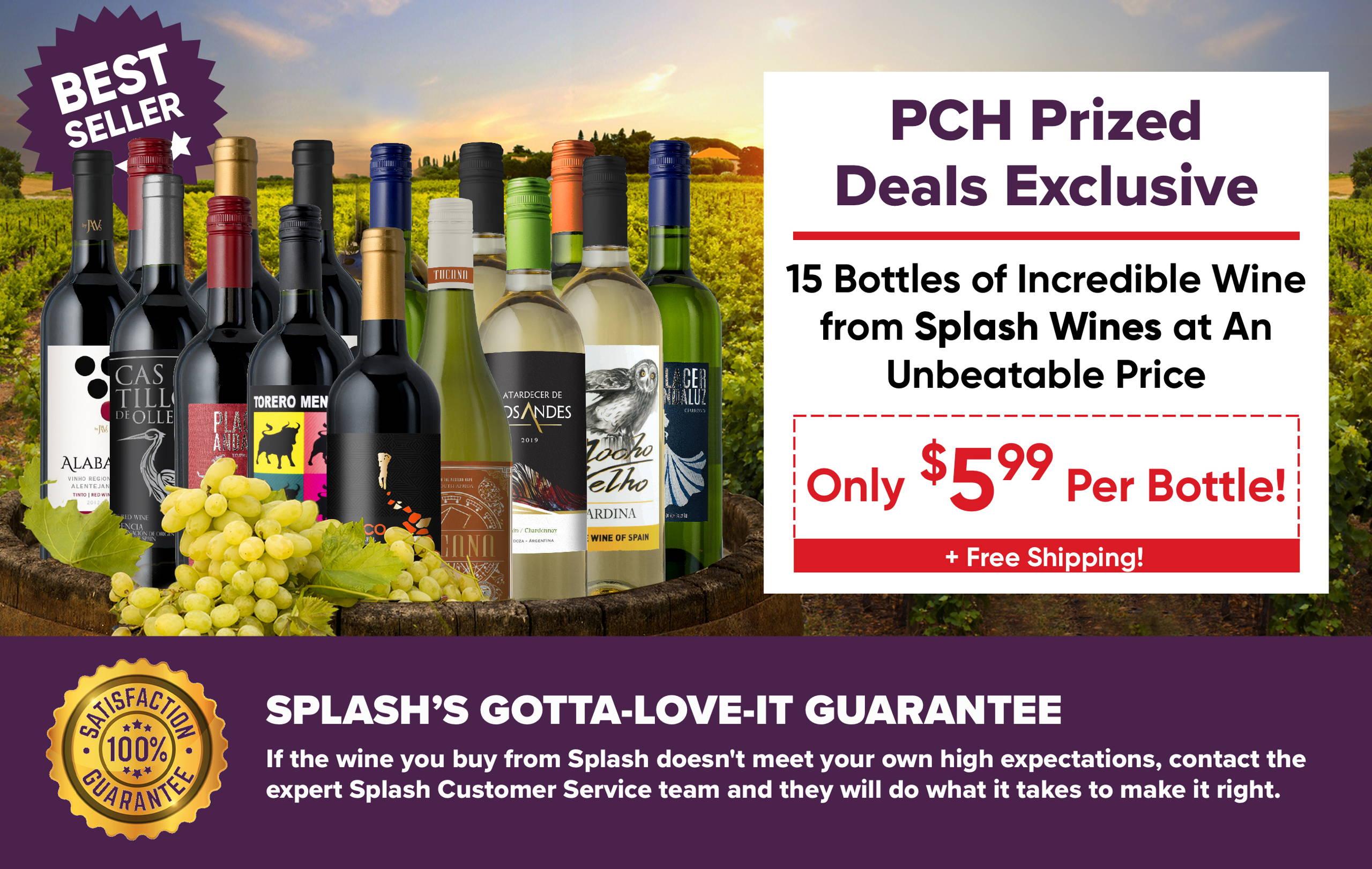 PCH End of Summer Sale – Splash Wines