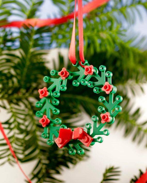 LEGO Wreath Ornament