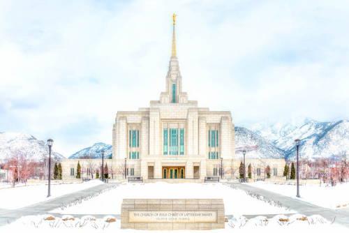 Painting of Ogden Utah Temple