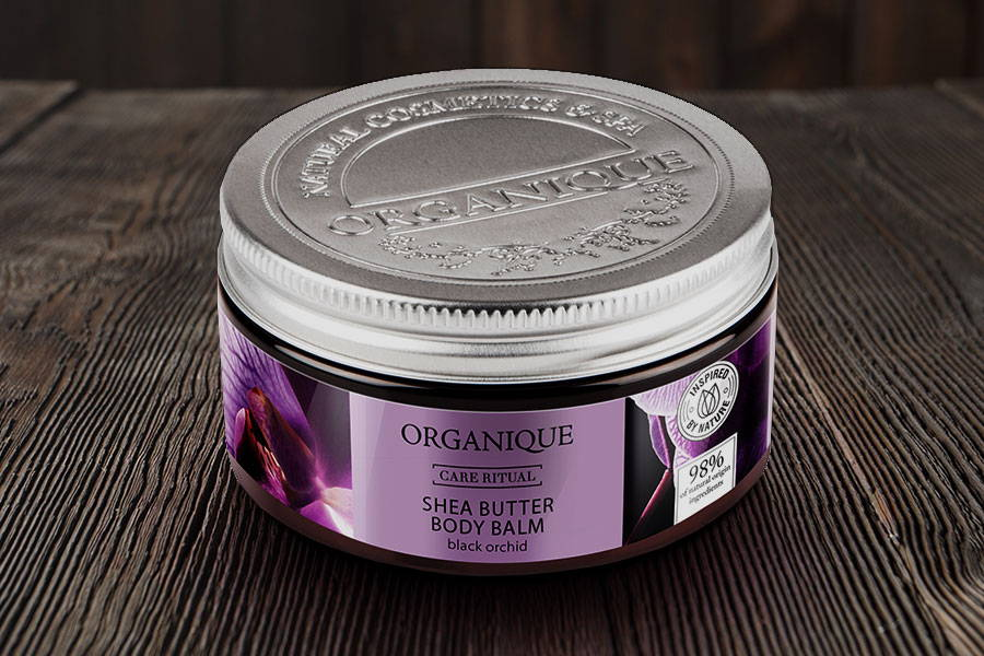 Organique nourishing Black Orchid natural Shea Butter Body Balm 100ml