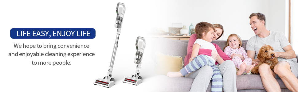 APOSEN 21Kpa Cordless Vacuum Cleaner Ultra-Lightweight & Quiet H21