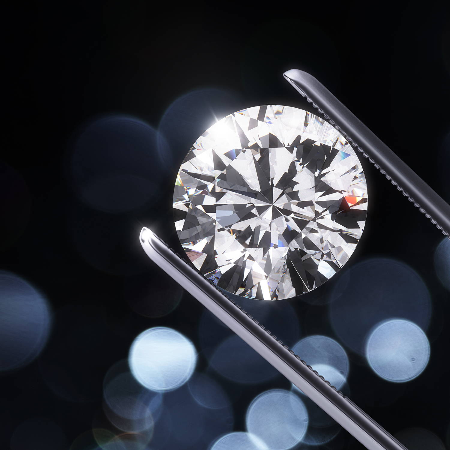 Shop for diamonds in Montreal. Shown here, a beautiful diamond with lots of sparkle help up to catch the light.