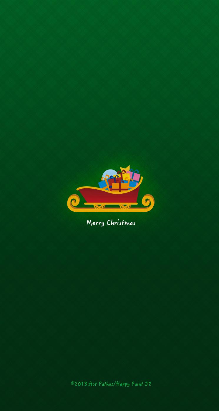 Iphone用クリスマス壁紙 ソリ J2 Happypaint Awrd アワード