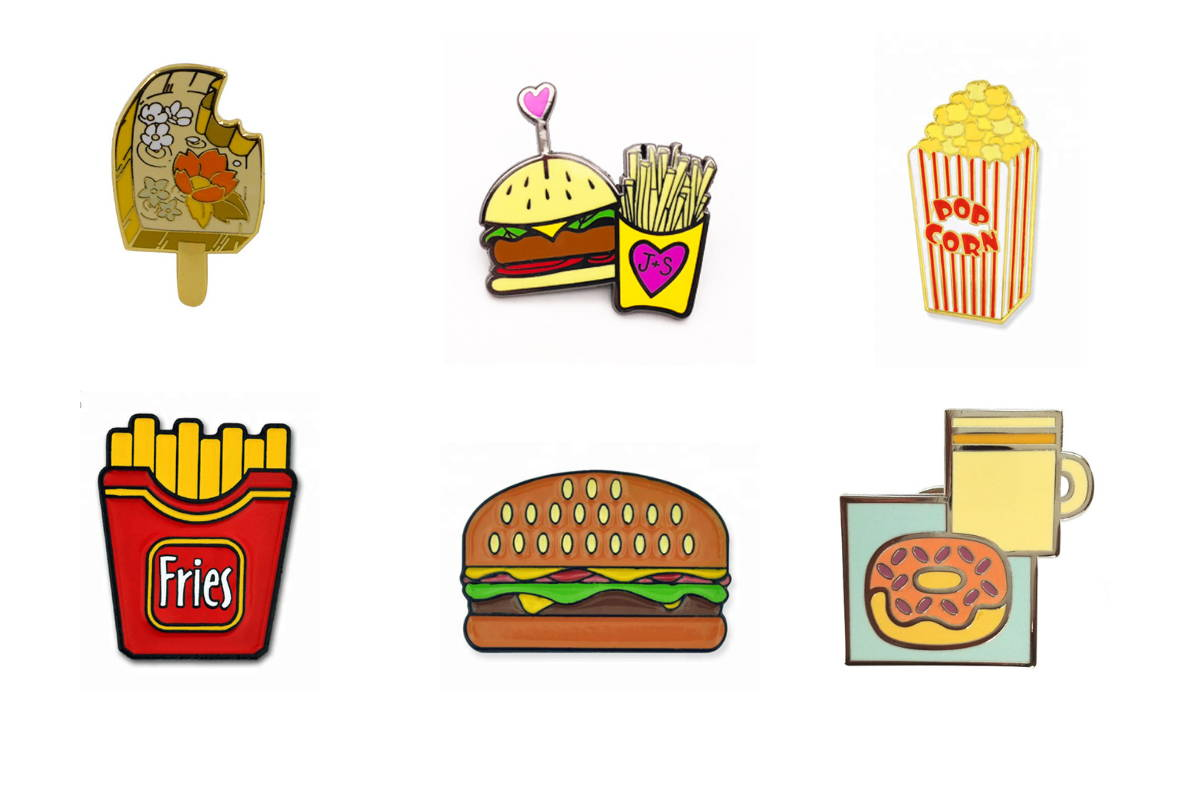 Food Lapel Pins for Custom Corporate