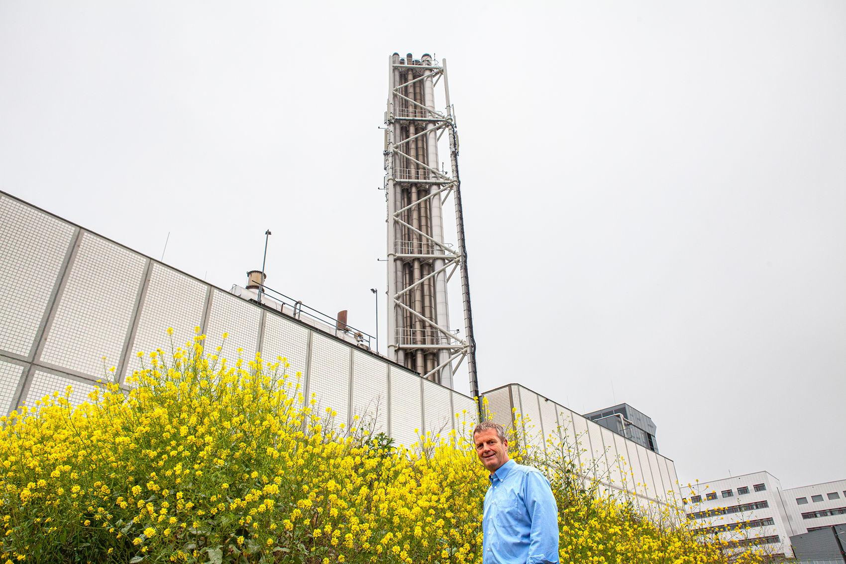 Perry van der Graaf voor de eigen energiecentrale van UMC Utrecht.