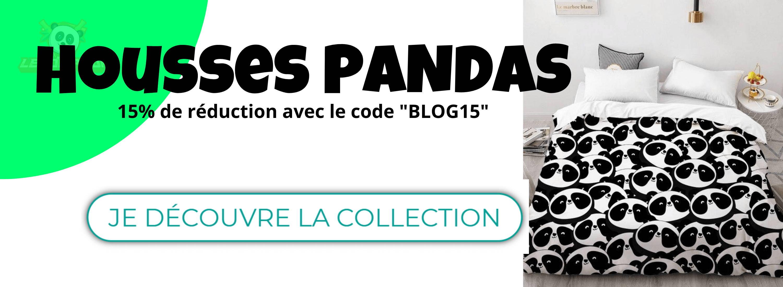collection housses de couette panda